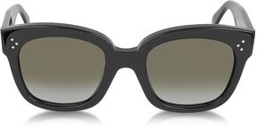 Celine CL41805/S New Audrey Black Acetate Sunglasses