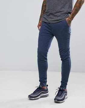 Asos Super Skinny Jogger in Denim Marl
