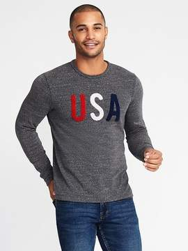 Old Navy Graphic Terry-Velour Tee for Men