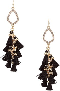 Anna & Ava Major Tassel Statement Drop Earrings