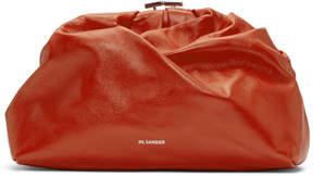 Jil Sander Red Carry Clutch