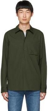 A.P.C. Green Liquette Soldier Shirt