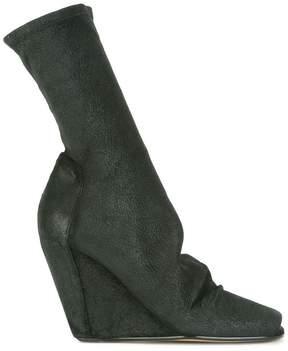 Rick Owens sock wedge booties