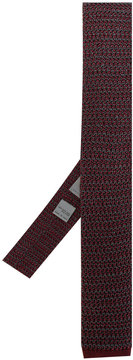 Canali skinny knitted tie