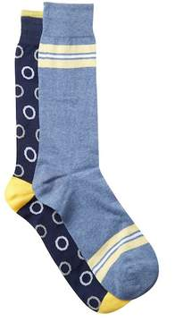 Lorenzo Uomo Assorted Crew Socks - Pack of 2