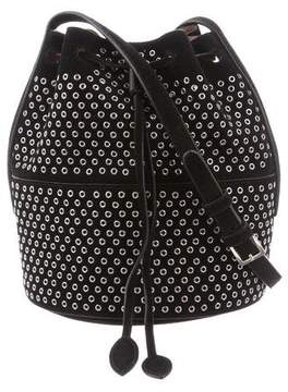 Alaia Grommet-Embellished Suede Bucket Bag