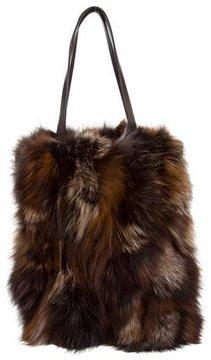 Michael Kors Eleanor N/S Fur Tote - BROWN - STYLE