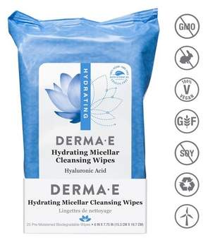 Derma E Hydrating Facial Wipes - 25 ct