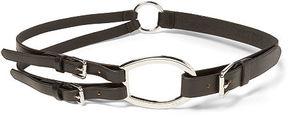 Ralph Lauren Lauren Tri-Strap Leather Belt