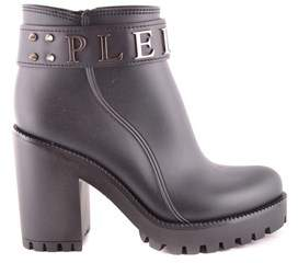 Philipp Plein Women's Black Other Materials Ankle Boots.