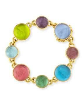 Elizabeth Locke 19k Gold Pastel Intaglio Link Bracelet