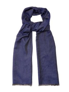Ermenegildo Zegna Striped wool, cashmere and silk-blend scarf