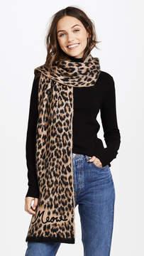 Kate Spade Brushed Leopard Muffler Scarf