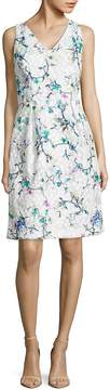 David Meister Women's Embroidered Floral Dress
