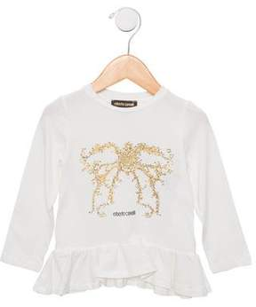 Roberto Cavalli Girls' Printed Embellished Top