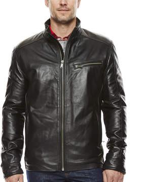 Asstd National Brand Straight-Bottom Lambskin Leather Jacket