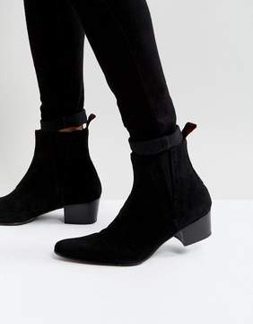 Jeffery West Murphy Chelsea Boots In Black Suede