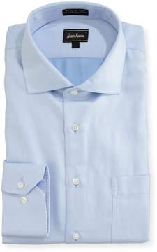Neiman Marcus Classic-Fit Non-Iron Herringbone Dress Shirt
