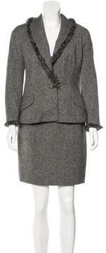 Christian Dior Wool Tweed Skirt Suit