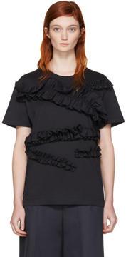 Cédric Charlier Navy Ruffle T-Shirt