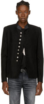 Saint Laurent Black Military Officer Blazer