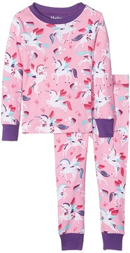 Hatley Rainbow Unicorns Classic PJ Set Girl's Pajama Sets