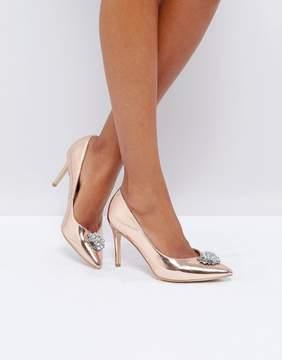 New Look Embellished Pointed Toe Heeled Shoe