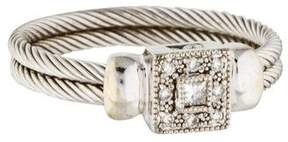Charriol 18K Diamond Nautical Double Cable Ring