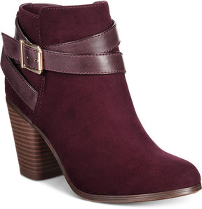 Material Girl Lexia Block-Heel Booties, Created for Macy's Women's Shoes