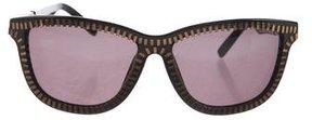 Alexander Wang Zip-Accented Tinted Sunglasses