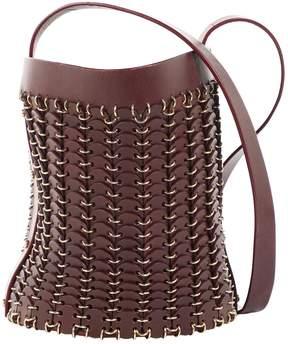Paco Rabanne Burgundy Leather Handbag