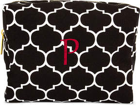 Cathy's Concepts Personalized Black Moroccan Lattice Cosmetic Bag