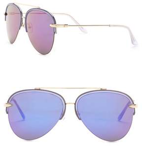 Cat Eye AQS Cora 60mm Aviator Sunglasses