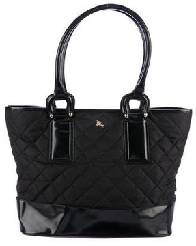 Burberry Quilted Nylon Tote - BLACK - STYLE