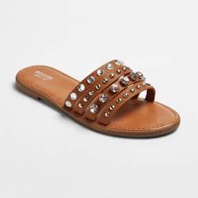 Mossimo Women's Liv Multiple Band Rhinestone Slide Sandals