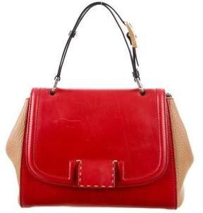 Fendi Silvana Leather Satchel