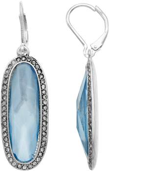 Dana Buchman Blue Oval Halo Drop Earrings