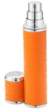 Creed Refillable Leather & Silvertone Pocket Atomizer/Orange