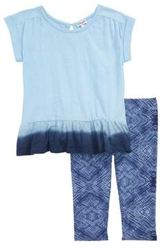 Splendid Dip Dye Top & Leggings Set