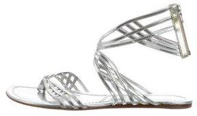 Sigerson Morrison Metallic Leather Sandals