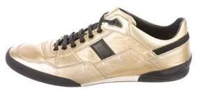 Christian Dior 2007 Metallic Low-Top Sneakers