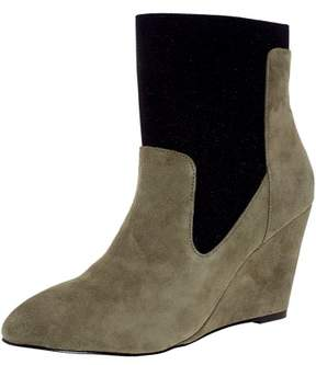 Charles David Charles By David Women's Erie Suede Stone Grey / Black Ankle-High Boot - 8.5M
