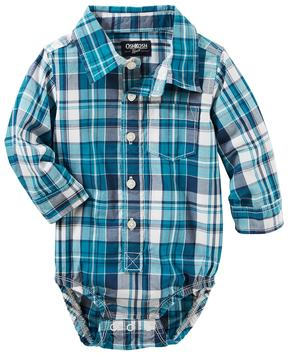 Osh Kosh Baby Boy Plaid Button-Front Bodysuit
