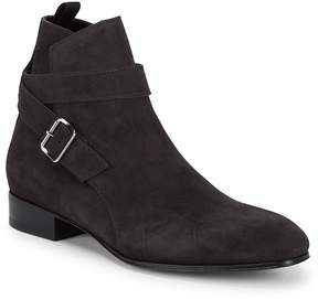 Balenciaga Men's Buckled Leather Ankle Boots
