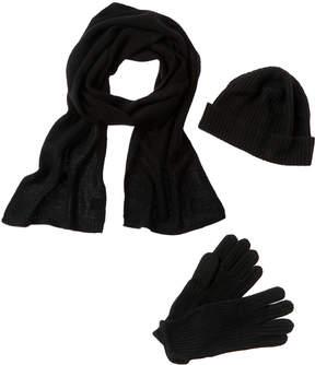 Portolano Men's Hat, Glove & Scarf Set