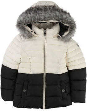 Karl Lagerfeld Two-Tone Puffer Jacket, Size 4-5