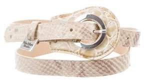 Max Mara Embossed Buckle Belt