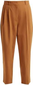 Vanessa Bruno Tapered-leg cotton-blend twill trousers