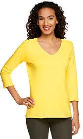 Isaac Mizrahi Live! Essentials 3/4 Sleeve Knit T-Shirt
