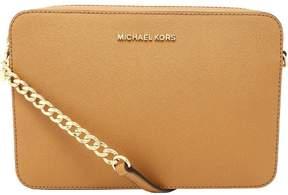 Michael Kors Women's Large Jet Set Saffiano Leather Crossbody Cross Body Bag Satchel - Acorn - ACORN - STYLE